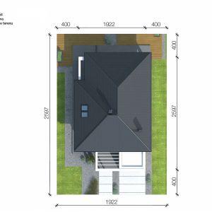 Usytuowanie domu na działce. Projekt i zdjęcia: Zespół Projektowy HomeKONCEPT