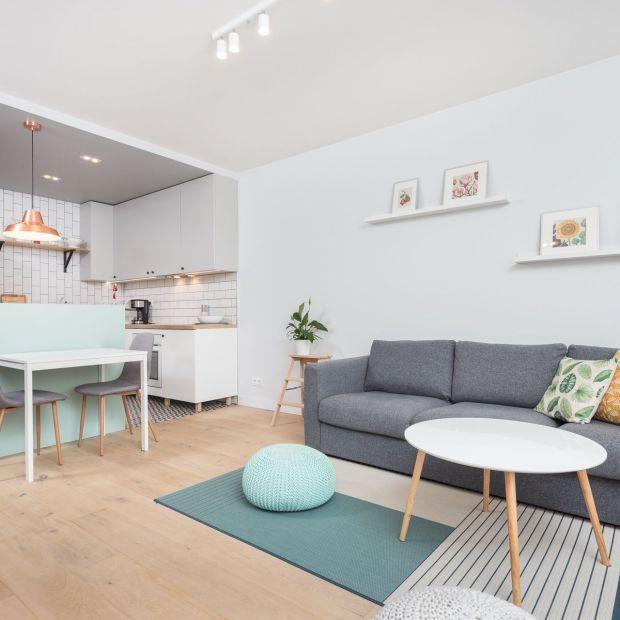 Mieszkanie dla dwojga w pastelowych kolorach