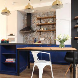 W kuchni rodzinnej mogą nie sprawdzić się bezuchwytowe szafki i fronty na wysoki połysk. Świetnie się sprawdzą za to kolory! Fot. Bartosz Jarosz