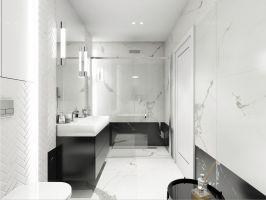 Mieszkanie w stylu glamour - łazienka. Projekt: Aleksandra Pater-Bartnik, ArchOmega Studio