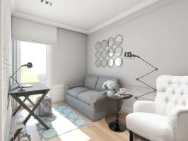 Mieszkanie w stylu glamour - gabinet. Projekt: Aleksandra Pater-Bartnik, ArchOmega Studio