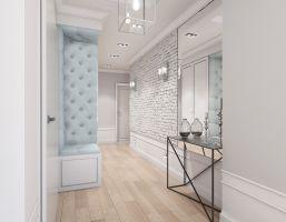 Mieszkanie w stylu glamour - korytarz. Projekt: Aleksandra Pater-Bartnik, ArchOmega Studio