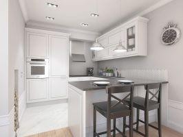 Mieszkanie w stylu glamour - aneks kuchenny. Projekt: Aleksandra Pater-Bartnik, ArchOmega Studio