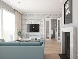 Mieszkanie w stylu glamour - salon z wejściem do gabinetu. Projekt: Aleksandra Pater-Bartnik, ArchOmega Studio