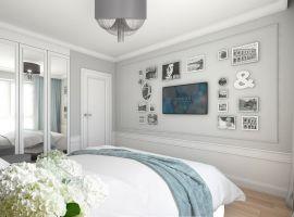 Mieszkanie w stylu glamour - sypialnia. Projekt: Aleksandra Pater-Bartnik, ArchOmega Studio