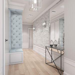 Mieszkanie w stylu glamour - korytarz. Projekt: Aleksandra Pater-Bartnik, ArchOmega Studio. Fot. ArchOmega Studio