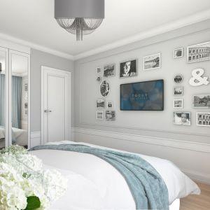 Mieszkanie w stylu glamour - sypialnia. Projekt: Aleksandra Pater-Bartnik, ArchOmega Studio. Fot. ArchOmega Studio