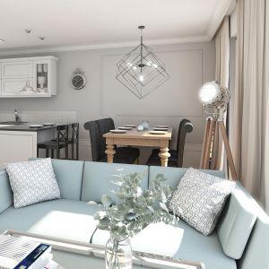 Mieszkanie w stylu glamour - jadalnia. Projekt: Aleksandra Pater-Bartnik, ArchOmega Studio. Fot. ArchOmega Studio