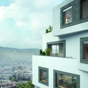 Okna z systemem oczyszczania powietrza Schüco VentoLife. Fot. Schüco