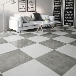 Materiały na podłogi: gres w wykończeniu lappato. Fot. Cerrad