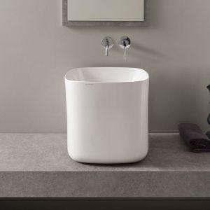 Nablatowa umywalka z serii Moon marki Scarabeo. Fot. Scarabeo