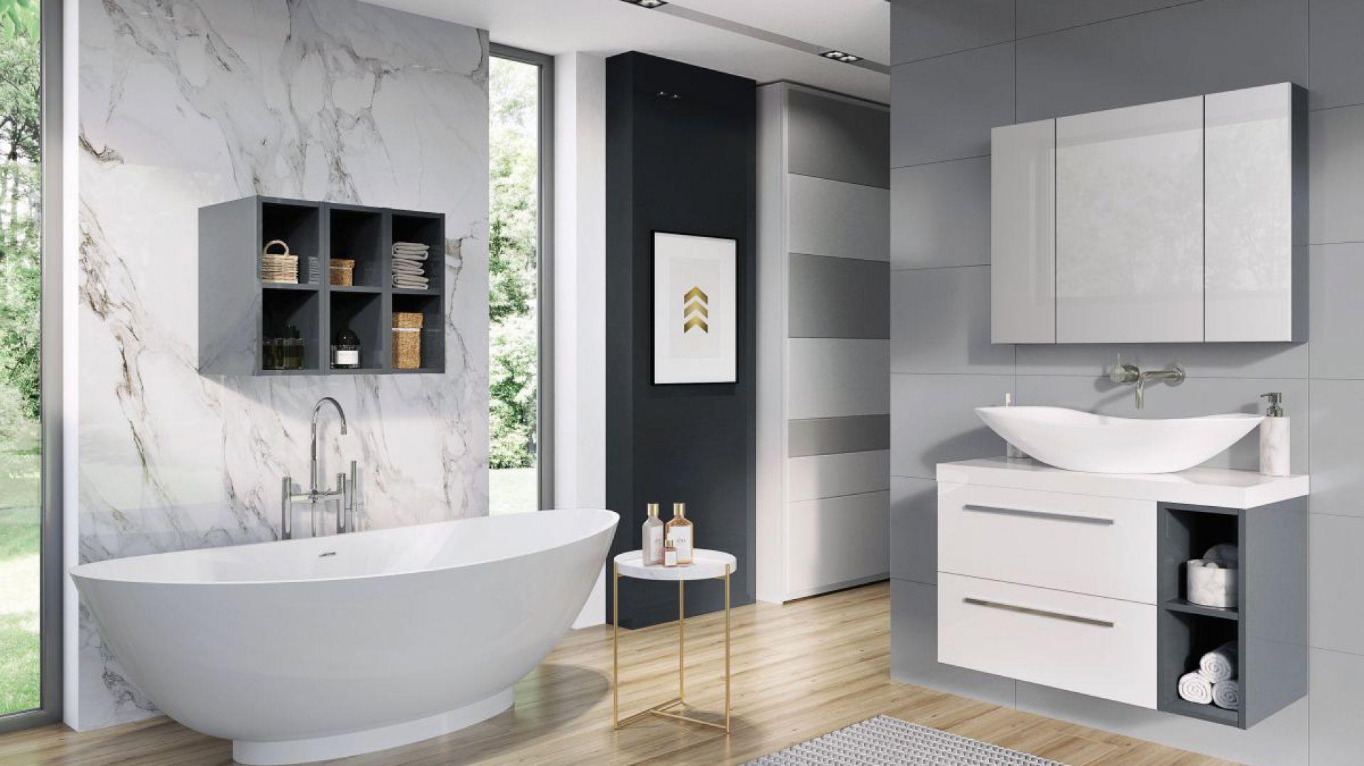 Podwieszane meble łazienkowe z kolekcji Kwadro marki Elita. Fot. Elita