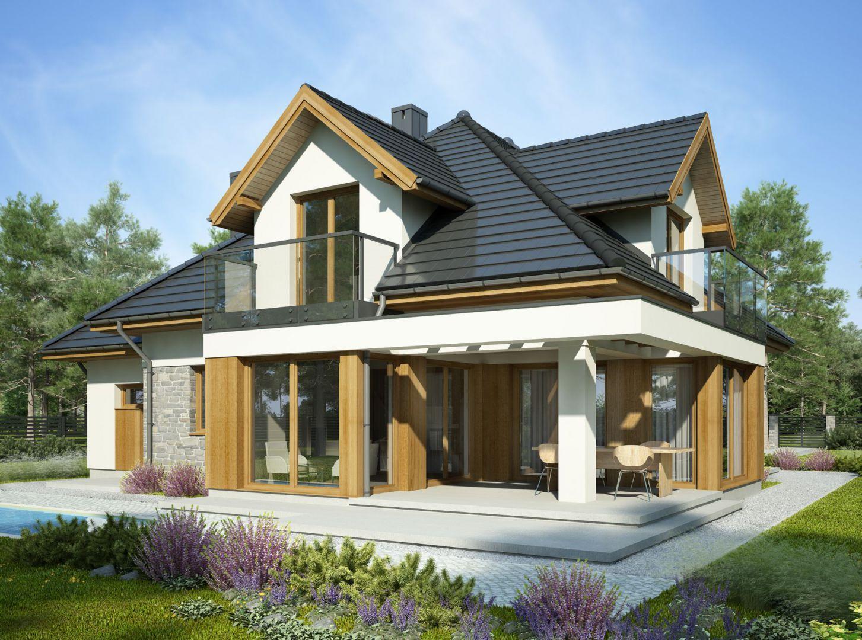 O czym należy pamiętać podczas budowy domu. Projekt: Aria. Fot. Dobre Domy