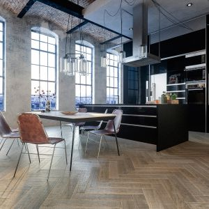 Retro collection – drewniane podłogi, które łączą zamiłowanie do naturalnego piękna zdesignem ifunkcjonalnością. Szeroka gama kolorów ibogaty wybór wykończeń drewna. Fot. Jawor Parkiet