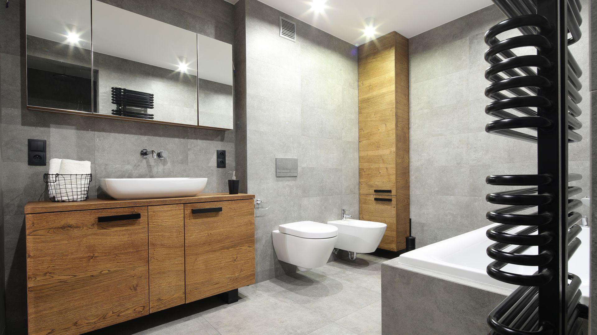 Piękna Szara łazienka Zobacz Gotowy Projekt