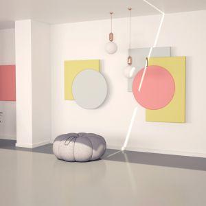 Panele akustyczne Fluffo Art. Fot. Fluffo Fabryka Miękkich Ścian