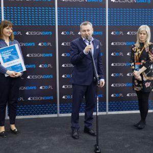 Przedstawiciele Comitor/Blanco w trakcie ceremonii wręczania nagród Exhibitor Design Award. Fot. PTWP