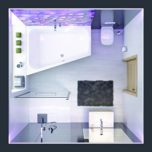 Nowoczesna  łazienka: wanna ALT+WTL FREE. Fot. Sanplast