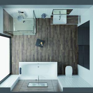 Nowoczesna  łazienka: kabona KND2 ALT+WP.  Fot. Sanplast