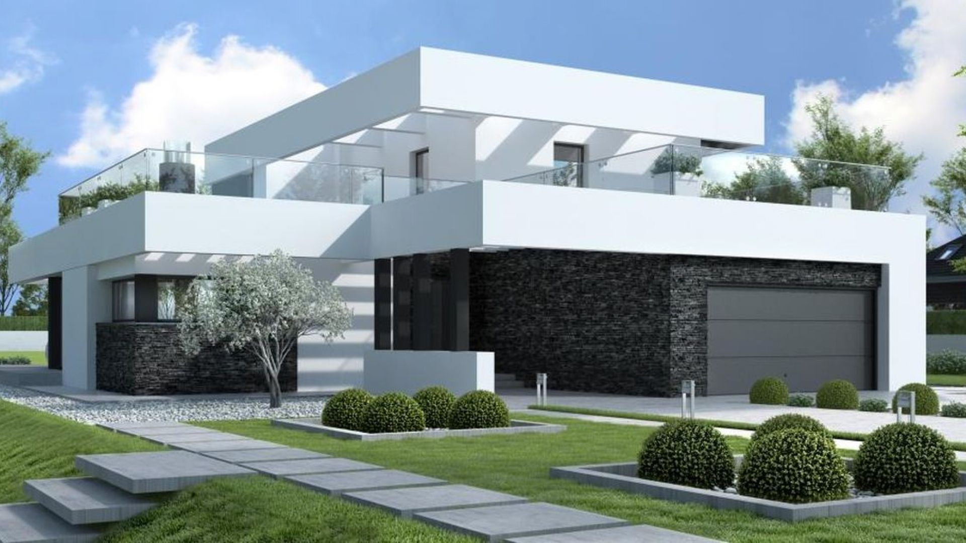 Nowoczesny dom z płaskim dachem. Fot. HomeKoncept