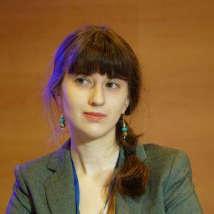 """Akademia Dobrze Mieszkaj na 4 Design Days: panel dyskusyjny """"Urządzamy mały dom"""" Na zdjęciu: Magda Motrenko. Fot. PTWP"""