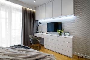 Nowoczesna, elegancka i ciepła sypialnia