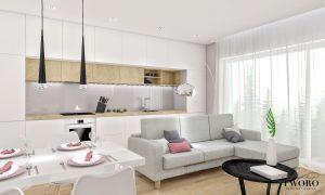 Otwarta strefa dzienna: salon z jadalnią i kuchnią