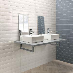 Jasne płytki do łazienki: trendy na 2018 rok. Producent: Ambientes, kolekcja London White Jeans. Fot. Ambientes