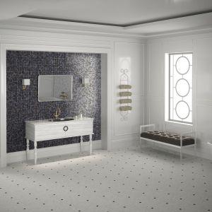 Jasne płytki do łazienki: trendy na 2018 rok. Producent:  Onix, kolekcja Boreal phoenix. Fot. Onix