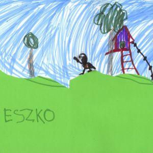 Praca nagrodzona w konkursie na rysunek wymarzonego domu. Autor: Mieszko Dirycz
