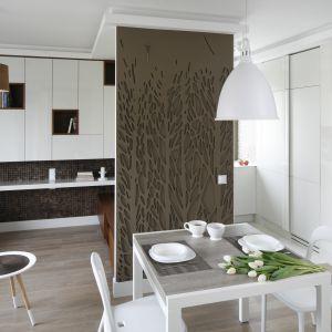 Ściany w salonie. Projekt: Małgorzata Mazur. Fot. Bartosz Jarosz