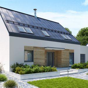 Dom, w którym energooszczędne rozwiązania idą w parze z codzienną wygodą. Dom Sam II G2 Energo Plus. Projekt: arch. Artur Wójciak. Fot. Pracownia Projektowa Archipelag
