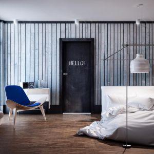 Aranżacja z drzwiami Płaskie malowane farbą tablicową. Fot. Inter Door