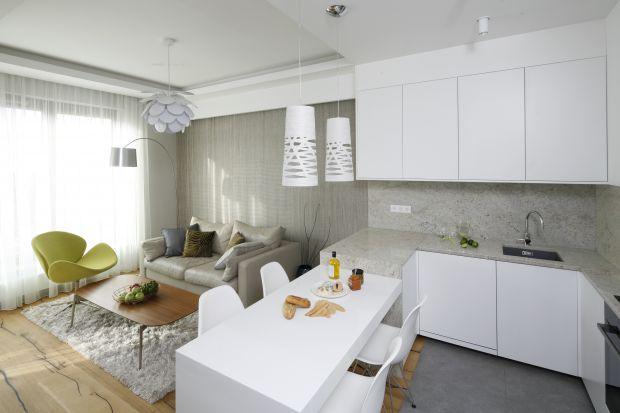 Salon z kuchnią - 30 pięknych zdjęć