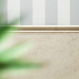 Aranżacja łazienki z wykorzystaniem listew ściennych. Fot. Tubądzin, marka Monolith