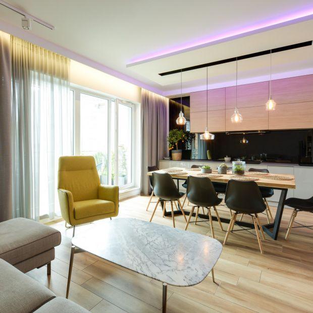 Kuchnia z salonem - zobacz gotowy projekt wnętrza