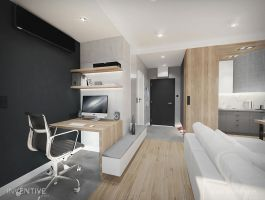 Przestrzeń do pracy. Projekt: Artur Jóźwik / INVENTIVE studio
