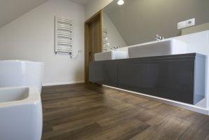 Łazienka na piętrze. Projekt i zdjęcia: Katarzyna Benko / Och-Ach_Concept
