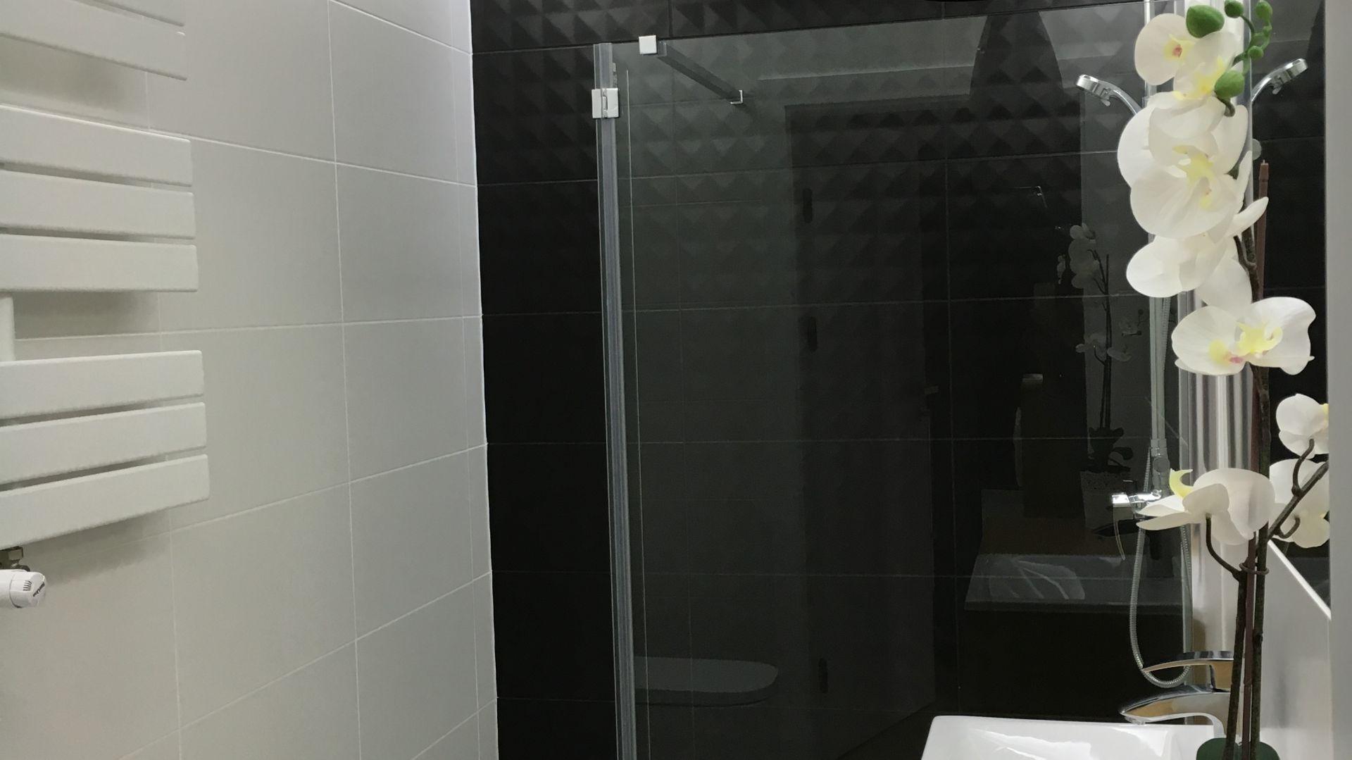 Mała łazienka Zobacz Projekt Biało Czarnego Wnętrza