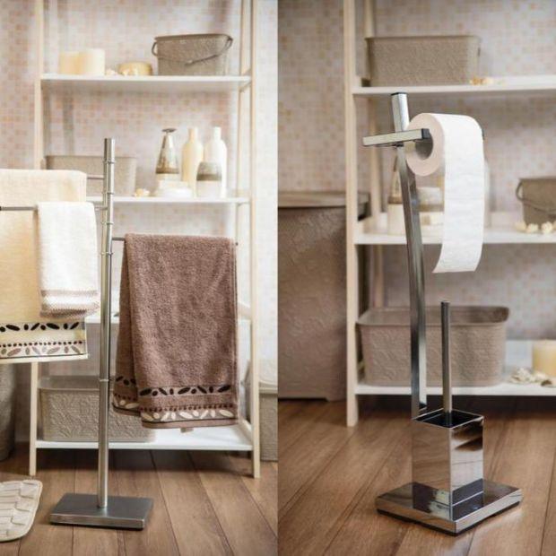 Modna łazienka - akcesoria ze stali i szkła