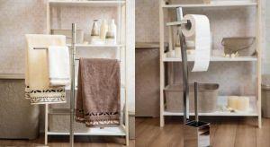 Pasujące do aranżacji komfortowe w użyciu wieszaki, regały czy zestawy łazienkowe pozwolą na szybki dostęp do ręczników oraz wszelkich artykułów do mycia i pielęgnacji.