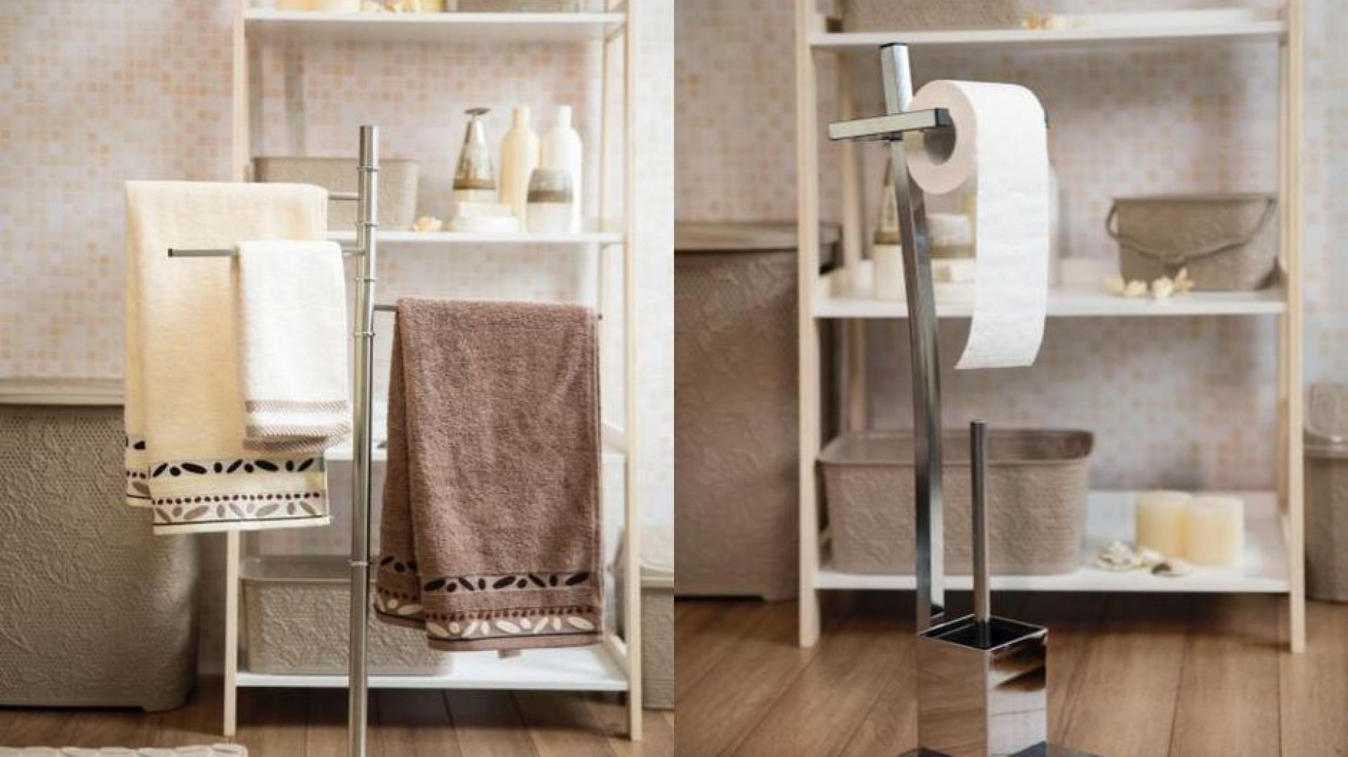 Modna łazienka Akcesoria Ze Stali I Szkła