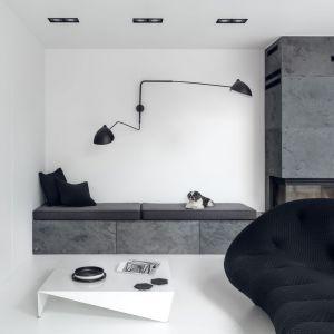 Pomysł na minimalistyczne wnętrze. Projekt: Aleksandra Mierzwa, Wiktor Kurc  MAKA Studio. Fot. Tom Kurek