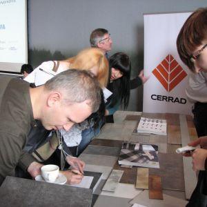 Na stoisku firmy Cerrad - partnera głównego. Studio Dobrych Rozwiązań, 14.03 Olsztyn