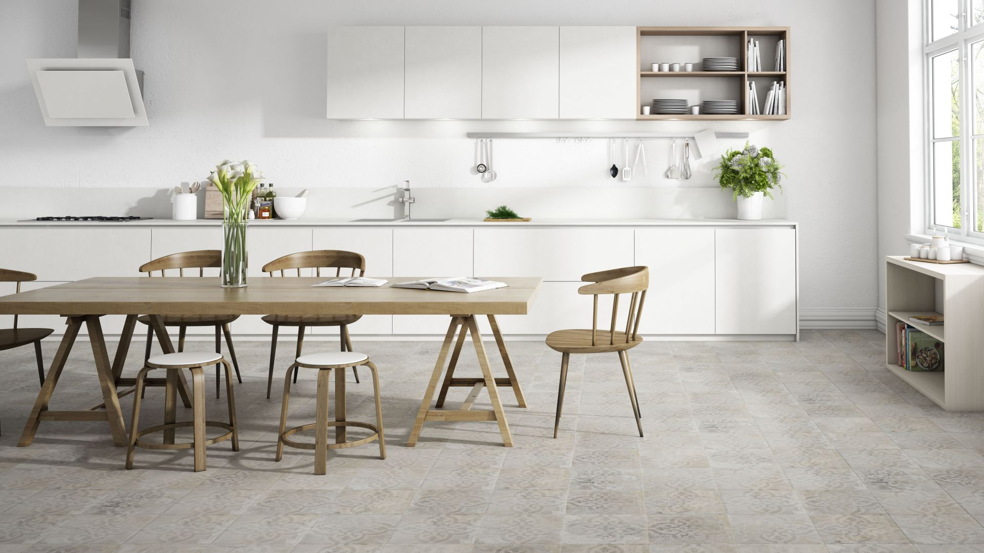 Płytki ceramiczne z kolekcji Amanto w białym kolorze. Fot. Apavisa