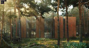 W podwarszawskim sosnowym lesie, na wąskieji długiej działce, powstanie dom idealnie wkomponowany w otoczenie. Jest to kolejny projekt pracowni architektonicznej 81.waw.pl.Celem inwestora i architekta było utrzymanie panującej harmonii tego miejs