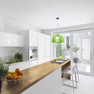 Blat do kuchni w dekorze Dąb Lancelot (R20027). Fot. Pfleiderer