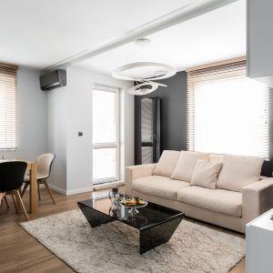 Salon połączony z jadalnią. Projekt: Estera i Robert Sosnowscy / Studio Projekt. Zdjęcia: Fotomohito