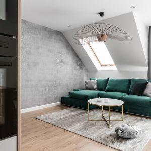 Zielona elegancja w mieście. Projekt: Estera i Robert Sosnowscy / Studio Projekt. Zdjęcia: Fotomohito