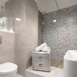Nowoczesna łazienka z prysznicem. Projekt: Wioletta Wójcik. Fot. Bartosz Jarosz